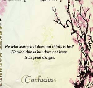 learning confucius quote