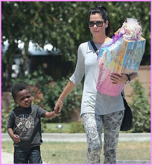 Sandra Bullock and Louis Attending Birthday Party in LA - July 28