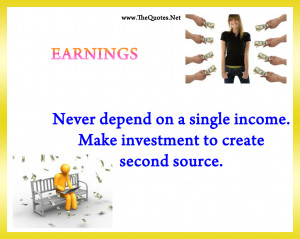 Quotes earning spending savings taking risk investment expectations ...