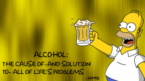 Homer The Simpsons Alcohol Beer Cause Solution wallpaper background