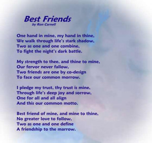 Friendship Poem - Best Friends