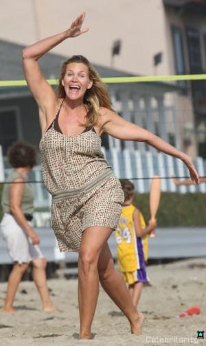 Natasha Henstridge Beach Natasha henstridge goes crazy