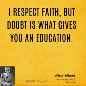 Wilson Mizner Faith Quotes