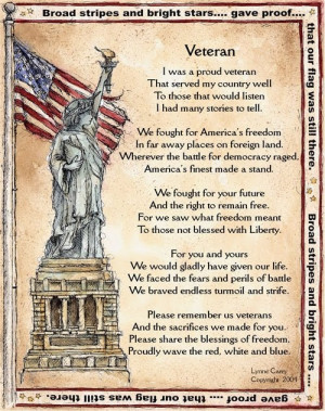 Veteran A poem by Lynne Carey Thank you to all our veterans!!! Quotes ...