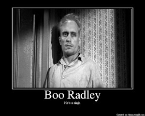 boo radley he s a ninja played in the 1962 film by robert duvall in ...