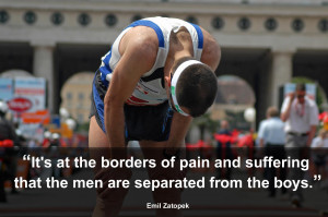 It's at the borders of pain and suffering that the men are separated ...