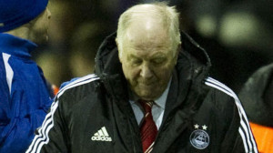 Dejection for Aberdeen boss Craig Brown as he marked a year in charge ...