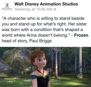 Disney Frozen Quotes! Princess Anna! Quote from Paul Briggs