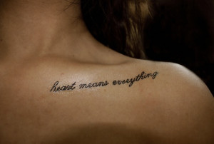 inspiring clavicle tattoo Chest Tattoos For Women