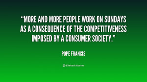 More and more people work on Sundays as a consequence of the ...
