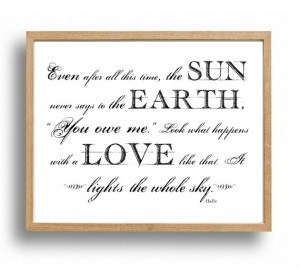 HAFIZ Quote Print, Love Quotes, Wedding Anniversary Gift, Bedroom Wall ...
