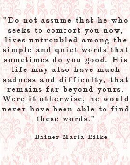 rainer maria rilke - Thank you for reminding me of exactly what I ...