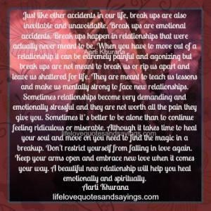 Break~Ups Are Emotional Accidents.. | Love Quotes And SayingsLove ...
