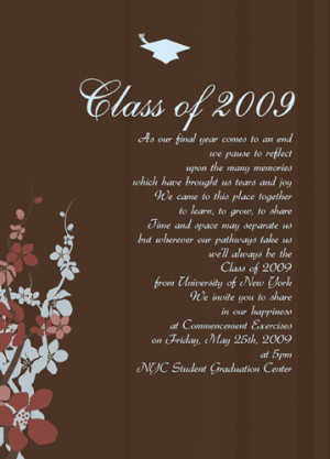 See the latest graduation announcements sayings high school listed ...