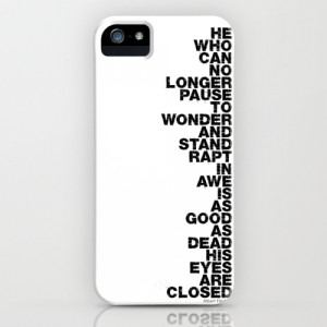 Stand Rapt In Awe quote iPhone & iPod Case