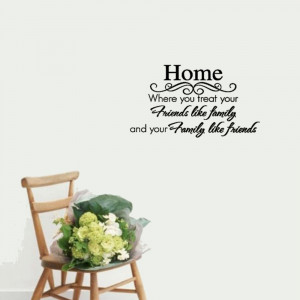 Quote Home Friends Family Home Decor Wall Sticker vinyl wall quote for ...