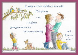 Family quote illustrated by Sandra Reeves -Spiritual Quotes To Live By