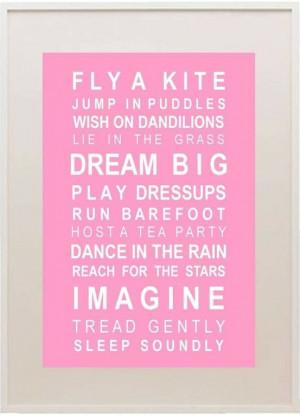 Wish, Dream, Play, Dance, Imagine