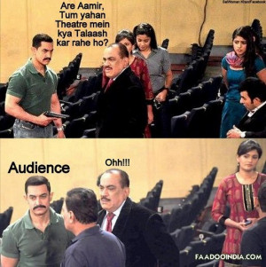 Funny Bollywood Aamir Khan with CID team searching for audience in ...