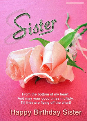 Sister birthday quotes, cute, best, sayings, happy
