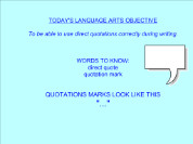 Direct Quotations [SMART Notebook lesson]