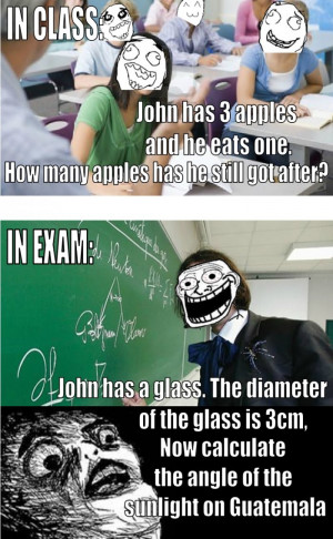 Funny Every Single Time In Class vs In Exam Quotes About Exams Funny