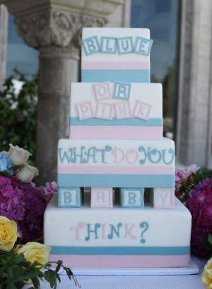 Gender Reveal Baby Shower Cakes
