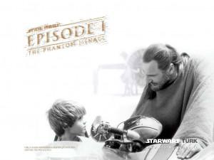 Star Wars Qui Gon Jinn and Anakin (Episode I)