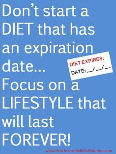 This is so true - if you are not on a lifestyle changing - permanent ...