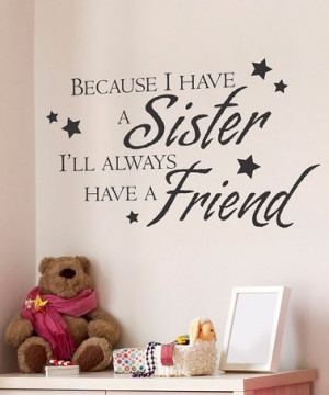 Take a look at this Black 'Sister Friend' Wall Quote by Wallquotes.com ...