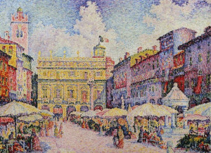 paul signac la place aux herbes vérone description paul signac