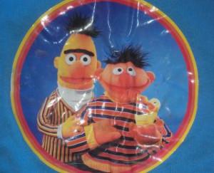 Bert And Ernie Rubber Duckie