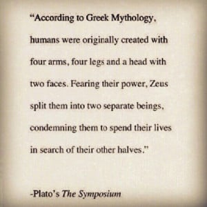 Greek mythology. Soul mates.