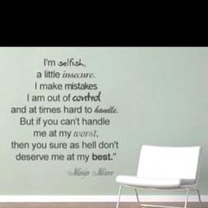 Wise spoken words. Monroe