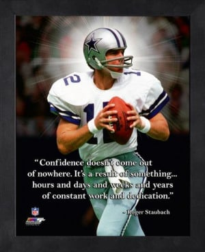 Dallas Cowboys Roger Staubach Framed Pro Quote