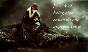 Depression Sick of Being Nice