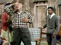 Scene from the television comedy Sanford & Son. Real heart attacks are ...