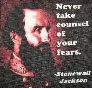 STONEWALL JACKSON QUOTE - Printed Patch - Sew On - Vest, Bag, Backpack ...