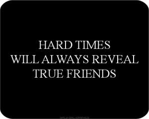 True friends....
