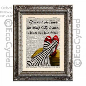 dorothy s ruby slippers and glinda quote dorothy from the wizard of oz ...