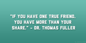 dr thomas fuller quote 37 Enlivening Quotes About Best Friends