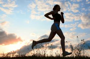 Jogging silhouette :