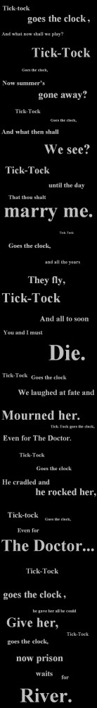 full tick tock lyrics | Doctor Who