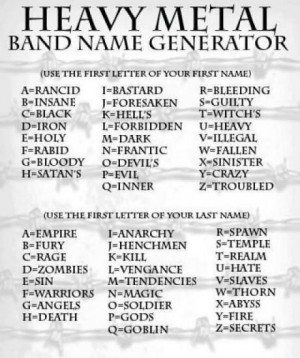 The Heavy Metal Band Name Generator
