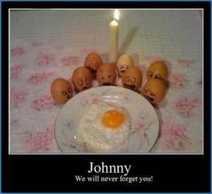 Funny Eggs on his Friends death