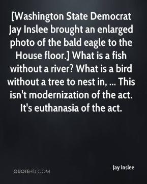 Jay Inslee - [Washington State Democrat Jay Inslee brought an enlarged ...