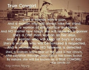 True Cowgirl Poster By Lindsay Milloy