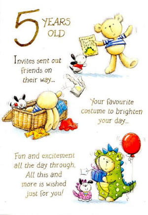Happy Birthday Quotes for 5 Year Olds
