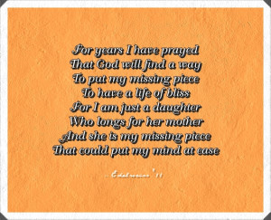 Daughter to Mother Poems