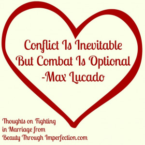 Encountering conflict inevitably moral issues